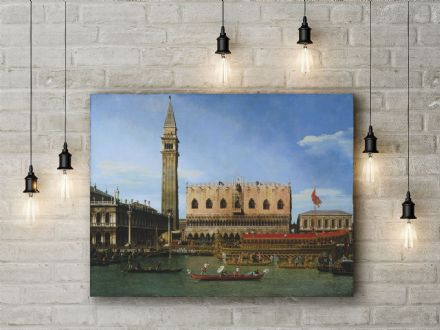 Canaletto: The Bucintoro at the Molo on Ascension Day. Fine Art Canvas.